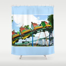 Chinese Dragon ride 2 Shower Curtain