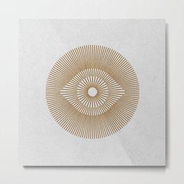 EYE OF THE SUN GOLD WHITE Metal Print
