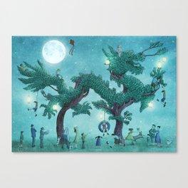 Dragon Topiary - Night Canvas Print
