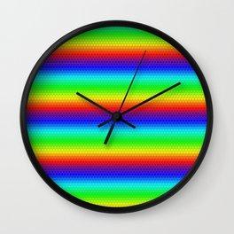 Rainbow honeycomb Wall Clock