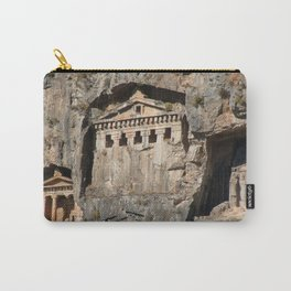 Lycian Tombs Cut From Rock Circa 400 BC Carry-All Pouch