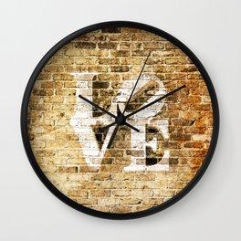 LOVE: BRICK II Wall Clock
