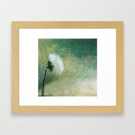Dandelion at Dusk Framed Art Print
