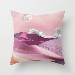 Pink Girls and Silk Sheets Throw Pillow