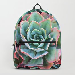 """""""Beauty"""" quote, cactus close-up photo Backpack"""