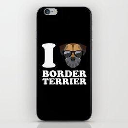 I Love Border Terrier modern v2 iPhone Skin