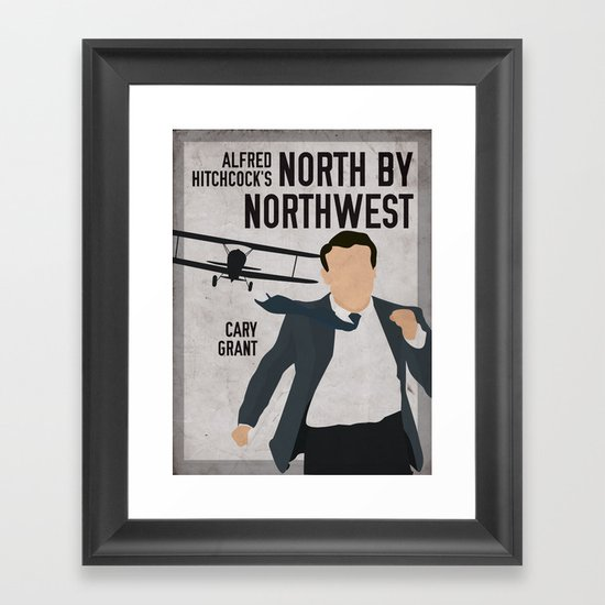 Alfred Hitchcock's North By Northwest Movie Print Framed Art Print