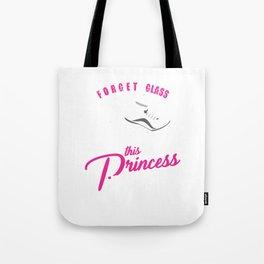 Women Runners Princess Wear Spikes Track Field Tote Bag