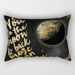 Moon and Back Rectangular Pillow