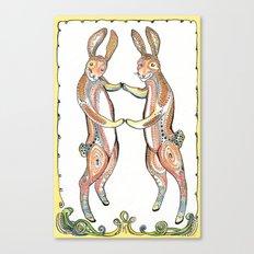 Hare Pair Canvas Print