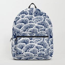Mushroom Pattern - Dark Blue Backpack