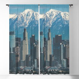 Los Angeles California in the Winter with San Gabriel Mountains Blackout Curtain