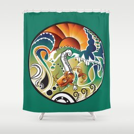 Psychedelic Surf Shower Curtain
