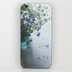 Forget-me-not bouquet in Blue jar iPhone & iPod Skin