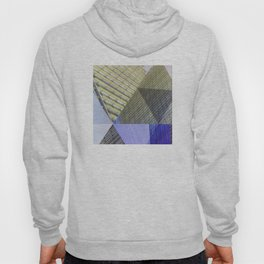 Architectural Triangles Abstract Design Hoody