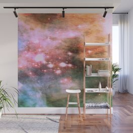 Colorful Pink Sparkle Carina Nebula Abstract Wall Mural