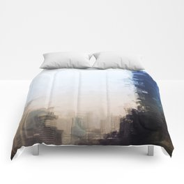 London Abstract Comforters