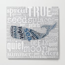 Quiet Pearls Whale Metal Print