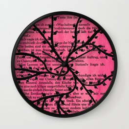 Pink Vines Wall Clock