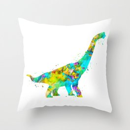 Brachiosaurus Dinosaur Throw Pillow