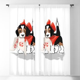The Love Puppy—Love Letter Blackout Curtain