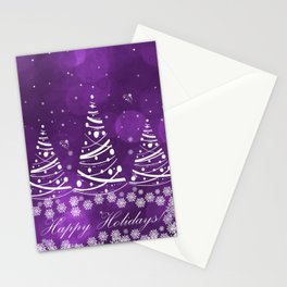 Happy Holidays Purple Magic Stationery Cards