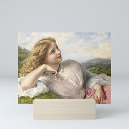 The Song Of The Lark 1903 By Sophie Gengembre Anderson | Reproduction Mini Art Print