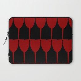 Vino - Red on Black Laptop Sleeve
