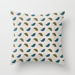 Abstract / Organic Surface Pattern (blue-green) Throw Pillow