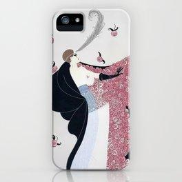 "Art Deco 1920's ""Rose Cloak"" Illustration iPhone Case"