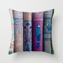 Lovely Antique Book Spines Throw Pillow