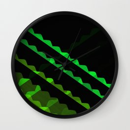 Outta Contexture #1 (rolling green pattern) Wall Clock