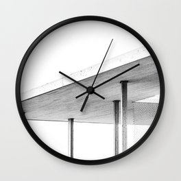 Architectural Study in White Wall Clock