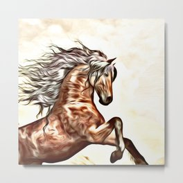Painted Horse 2 Metal Print