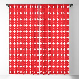 Red pattern Blackout Curtain