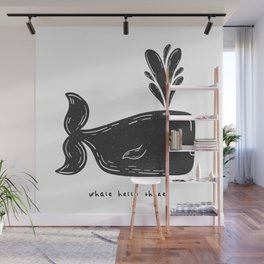 WHALE HELLO THERE Wall Mural