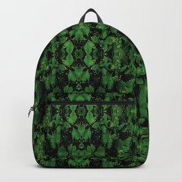 Dark Nature Collage Print Backpack