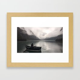 Lake Side View - Peru Framed Art Print