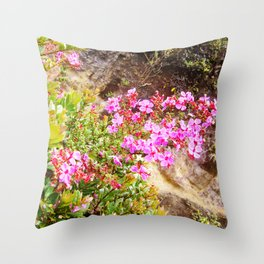 Volcanic Petals Throw Pillow