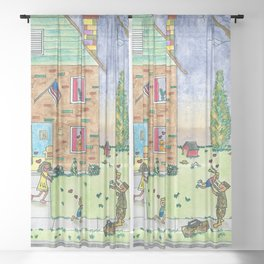 Welcome Home Soldier Sheer Curtain
