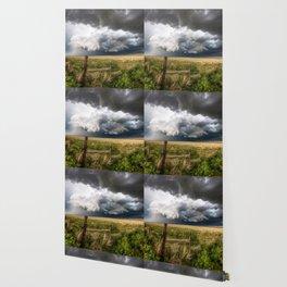 Aquamarine - Storm Over Colorado Plains Wallpaper