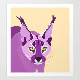 Wild Caracal Art Print