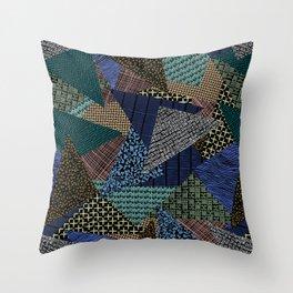 Pantern Mania Collage Throw Pillow