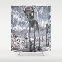 sci fi Shower Curtains featuring Sci-Fi Fantasy 2 by gypsykissphotography