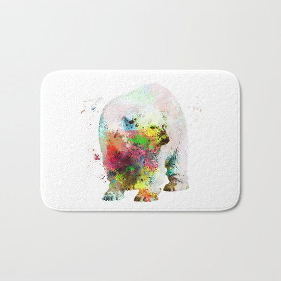 Bear painting Bath Mat