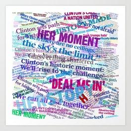 Hillary 2016 Abstract Headline Collage Art Print