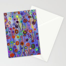 Abstract Flowers Wild Stationery Cards