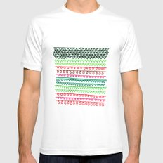 Pattern 1 MEDIUM Mens Fitted Tee White
