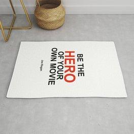 """""""Be the Hero of your own movie"""" Joe Rogan Rug"""