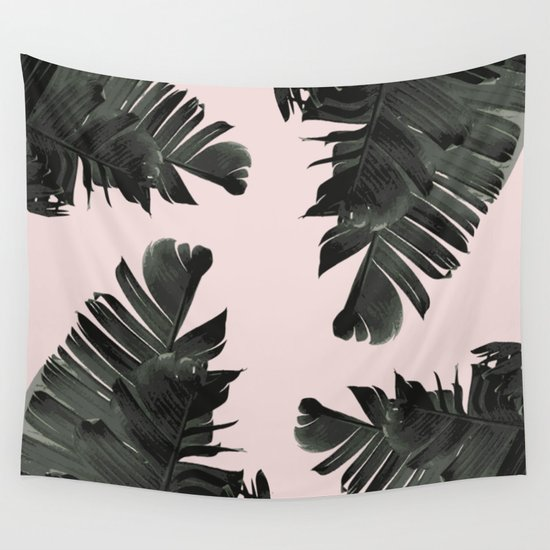 Tropical palm spring Wall Tapestry